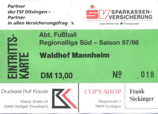 eintrittskarte-1997-10-25-tsf-ditzingen-waldhof-mannheim