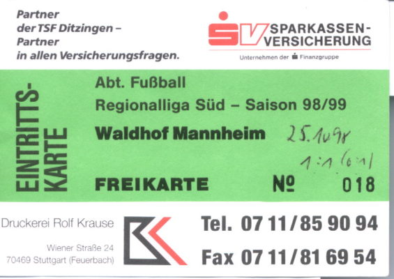 eintrittskarte-1998-10-25-tsf-ditzingen-waldhof-mannheim